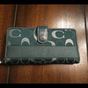 Teal Coach wallet